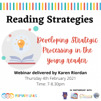Webinar – Reading Strategies – Developing strategic processing in the young reader