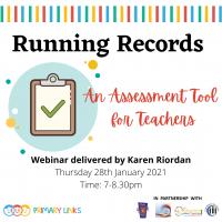 Webinar – Running Records – An assessment tool for teachers